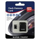 Super Talent 16GB Micro SDHC Memory Card w/ Adapter, Retail