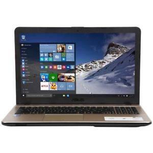 ASUS R541NA-RS01 15.6 inch Intel Celeron N3350 1.1GHz/ 4GB DDR3/ 500GB HDD/ DVD±RW/ USB3.1/ Windows 10 Notebook (Chocolate Black & Gold)