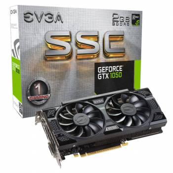 EVGA NVIDIA GeForce GTX 1050 SSC GAMING 2GB GDDR5 DVI/HDMI/DisplayPort PCI-Express Video Card w/ ACX 3.0 Cooler
