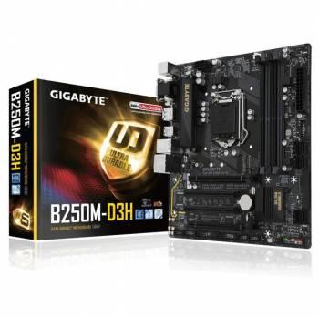 GIGABYTE GA-B250M-D3H LGA1151/ Intel B250/ DDR4/ Quad CrossFireX/ SATA3&USB3.1/ M.2&SATA Express/ A&GbE/ MicroATX Motherboard