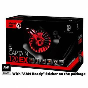 DEEPCOOL CAPTAIN 120 EX (AM4) 120mm CPU Liquid Cooler for LGA2011-V3/2011/1366/1156/1155/1151/1150 & AMD Socket AM4/FM2+/FM2/FM1/AM3+/AM3/AM2+/AM2