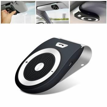 Wireless Car Speaker Bluetooth Receiver Sun Visor Speakerphone Car Stereo Player Hands-free Car Kit for iPhone X/ iPhone 8/Plus Samsung Suppor