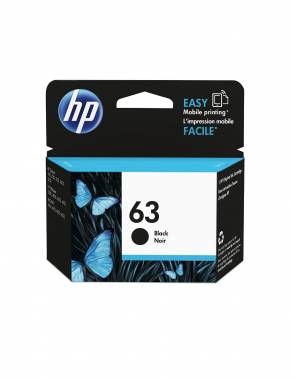 HP 63 Black Original Ink Cartridge (F6U62AN)