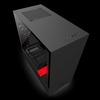 NZXT H500 No Power Supply ATX Mid Tower (Black&Red)