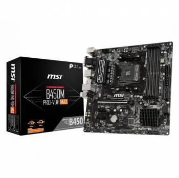 MSI B450M PRO-VDH MAX Socket AM4/ AMD B450/ DDR4/ SATA3&USB3.2/ Turbo M.2/ A&V&GbE/ m-ATX Motherboard