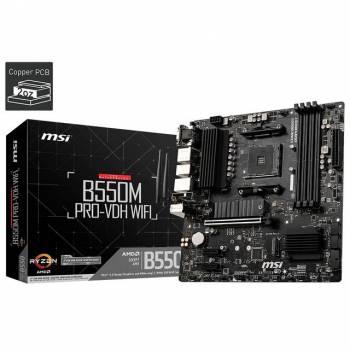 MSI B550M PRO-VDH WIFI Socket AM4/ AMD B550/ DDR4/ SATA3&USB3.2/ M.2/ Micro-ATX Motherboard