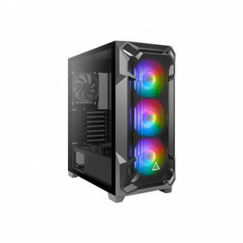 Antec Dark League DF600 FLUX, Mid Tower ATX Gaming Case, Tempered Glass Side Panel, USB3.0 x 2, 360 mm Radiator Support, F-LUX Platform, 3 x 120 mm ARGB, 1 x 120 mm reverse & 1 x 120 mm fans Included