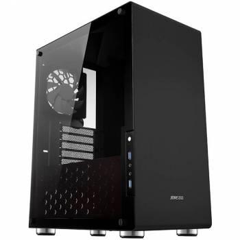 Jonsbo U4 B Black / SGCC Steel / Aluminum / Tempered Glass ATX Mid Tower Computer Case