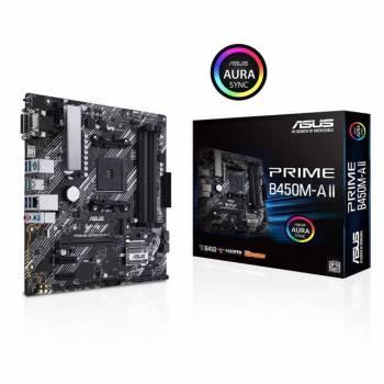 Asus PRIME B450M-A II Socket AM4/ AMD B450/ DDR4/ SATA3&USB3.2/ M.2/ mATX Motherboard