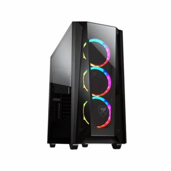 Cougar MX660 T RGB Mid-Tower Case with Transparent Front Panel and Clear Tempered Glass Left Panel