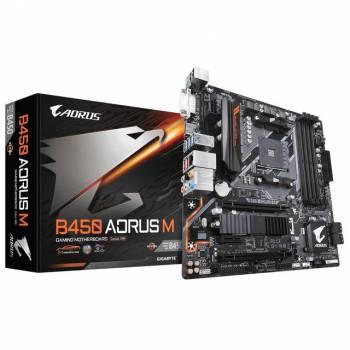 GIGABYTE B450 AORUS M Socket AM4/ AMD B450/ DDR4/ Quad-GPU CrossFireX/ SATA3&USB3.1/ M.2/ A&GbE/ MicroATX Motherboard