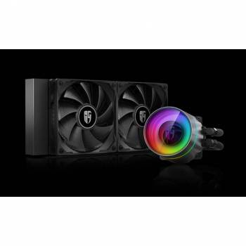 DEEPCOOL Castle 240EX, Addressable RGB AIO Liquid CPU Cooler, Anti-Leak Technology Inside, Cable Controller and 5V ADD RGB 3-Pin Motherboard Control, TR4/AM4 Supported