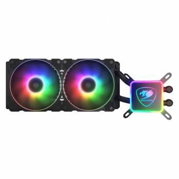 COUGAR AQUA ARGB 240-240mm CPU Liquid Cooler AIO ARGB Water Cooling System 2x 120mm PWM Fans for Intel LGA 1200/115X/20XX for AMD TR4 AM4/AM3+/AM3